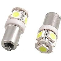 TMT LEDS(TM) 2x BAY9S H21W 5 LED SMD 5050 witte stekker met binnenhoek standlicht knipperlicht voor auto motorfiets