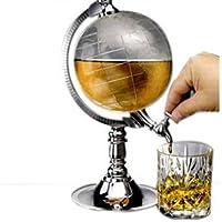 Creative mini water dispenser metal earth globe with plastic drink beer machine