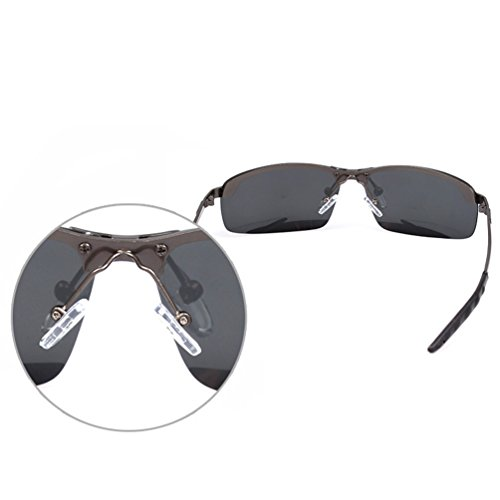 Sol Cadre en HD Hombre de Mujer Aviador LINNUO Marco Negro Polarizadas Conducción Sunglasses Oro Eyeglasses Gafas Anteojos Lente Métal 8nEvwR