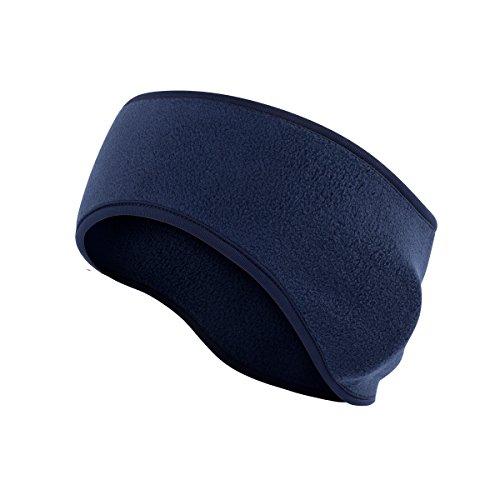 Amandir Fleece Ear Warmers Headband/Ear Muffs Men & Women Warm Cozy Ski Headband with Thermal Stretch Great for Winter Running Yoga Skiing and Other Outdoor Sports