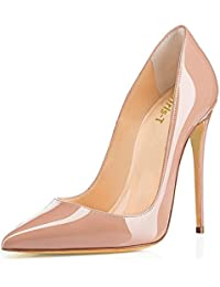 Womens Pointy Toe High Heels Slip On Stiletto 12CM...