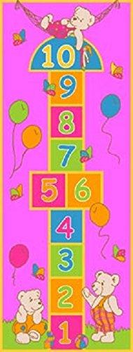 """CR's Purple Rug Girls Pink Kids Rug,Children's Rugs Baby Nursery Rugs Kids Rugs Carpet Girls Bedroom Playroom Play Mat School Classroom Learning 28"""" X 84"""" Carpet Educational Rug"""
