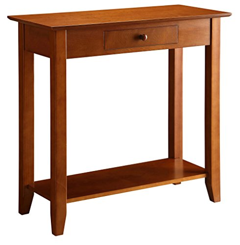 Convenience Concepts American Heritage Hall Table with Drawer and Shelf, -