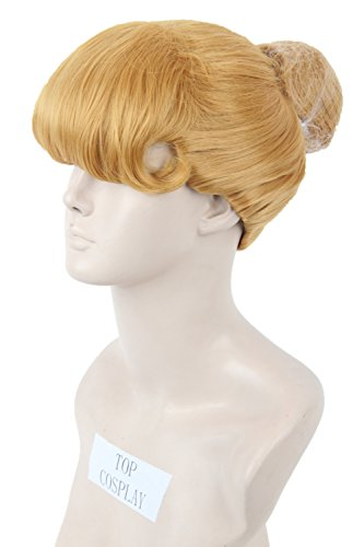 [Women's Short Fiber Cosplay Wig Halloween Party Costume Hair Gold] (Girls Cinderella Costumes Wig)