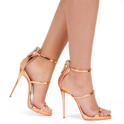 Modern Gold LUCKY Shoes Stiletto Women Heels Bar Heel CLOVER Court Party Light Girls Shoes High Suede Creative Sandals A 1Cm Night Ladies Platform qRBqv1f