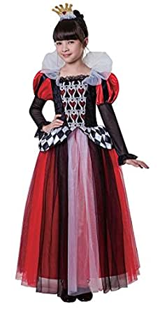 Totally Ghoul Queen of Hearts Halloween Costume Girl Medium