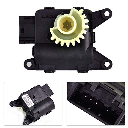 (Temperature Valve Recirculation Heater Flap Motor For Audi Volkswagen, Parts Low Noise Motor Car Accessories(black))