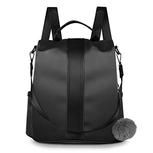 Rucksack Black Nylon School Bag for Shoulder Fashion Anti Ladies Girls for Waterproof Theft Backpack Bag Women zzqCpR