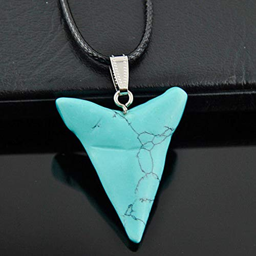 Cool Turquoise Shark Tooth Pendant ()