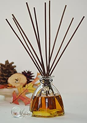 Apple Orchard Scented Oil Reed Diffuser by MINX Fragrances | Apples, Clove, Cinnamon & Vanilla notes | Air Freshener for any room in your home | Made in the USA