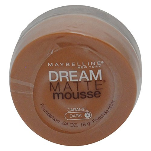 Maybelline Dream Matte Mousse Foundation, Caramel, Dark, 0.64 oz (Pack of 2) ()