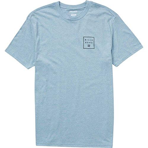 Billabong Men's Stacked Tee, Denim Heather, (Billabong Blue Shirt)