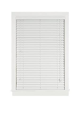 Achim Home Furnishings Madera Falsa 2-Inch Faux Wood Blind, 29-Inch by 64-Inch, White - Home Furnishings
