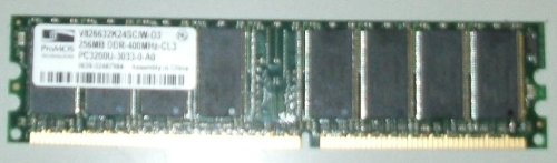 Sony Ddr Memory - PROMOS V826632K24SCIW-D3 256MB PC3200 DDR-400MHz 184 Pin Memory Ram