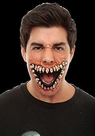 Grinning Prosthetic Mouth of Teeth Grinning SFX Halloween Fancy