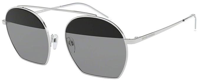 Emporio Armani 0EA2086 Gafas de sol, Silver, 56 para Mujer ...