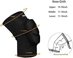 iMucci Knee Pads Thick Sponge Collision Avoidance Kneepad Great for Skating Volleyball protector Pole Dancing and Floorwotk
