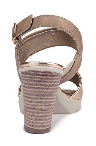 Me Sandal And With Beige N Flexx Gold Yu The Heel Woman nSITgx1tqw