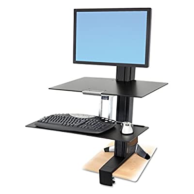 Ergotron WorkFit-S Single HD Workstation with Worksurface+ (33-351-200) by Ergotron