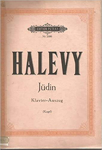 Halevy Judin Piano Vocal Score Edition Peters Nr. 2686