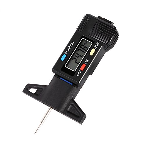 LCD Digital Tire Thread Depth Gauge,0-25.4mm Meter Measurer Tread Checker Tire Tester for Cars Trucks and SUV - Tire Thread