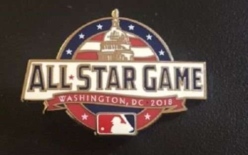 Baseball 2018 All Star Game PIN Washington DC Trout Altuve Kershaw Bryant Stanton - All Star Game Collectible Baseball