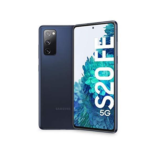 "Samsung Smartphone Galaxy S20 FE 5G, Display 6.5"" Super AMOLED, 3 Fotocamere Posteriori, 128 GB Espandibili, RAM 6GB, Batteria 4.500mAh, Hybrid SIM, Blu (Cloud Navy) 1"