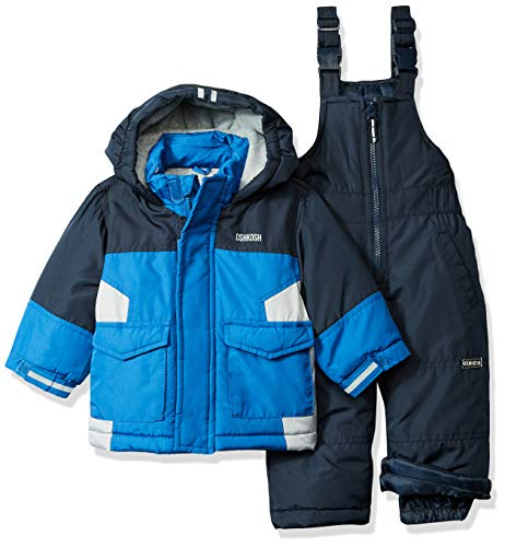 OshKosh B'Gosh Baby Boys Ski Jacket and Snowbib Snowsuit Set, deep Navy/Wolf Grey, 18M