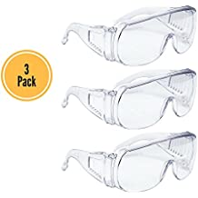 AMSTON Safety Glasses (3-pack), ANSI Z87+ Standards, Eyewear Personal Protective Equipment / PPE for Construction, DIY, Home Projects & Lab Work
