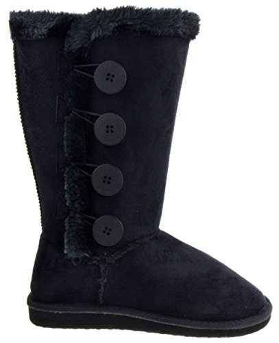 Image of Aling 33 Womens 4 Button Shearling Boots
