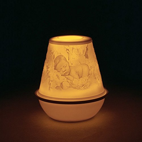 Lladro Rechargeable LED Lithophane Votive Light - New Baby #01017384 by Lladro