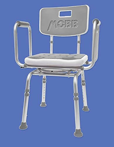 Mobb Premium Bathroom Swivel Shower Chair Bath Bench With