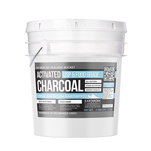 Activated Charcoal Powder by Earthborn Elements (1 gallon (3 lb.)), American Hardwood, All-Natural Teeth Whitening, Detoxifier, Food & USP Pharmaceutical Grade, Vegan, Gluten-Free