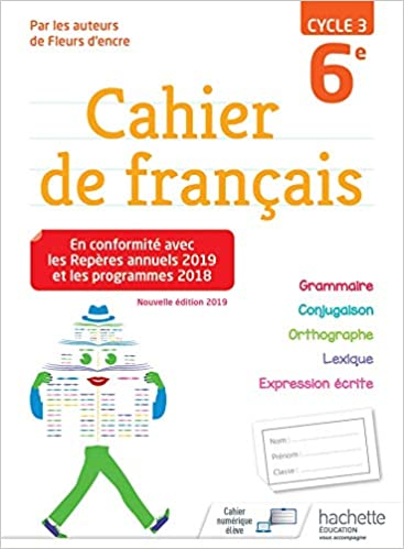 Cahier De Francais Cycle 3 6e Ed 2019 Amazon Fr