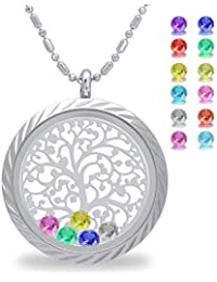 Family Tree of Life Magnetic Closure Floating Charms...
