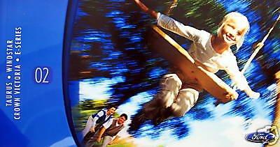 - 2002 FORD TAURUS/WINDSTAR/CROWN VICTORIA/E-SERIES PRESTIGE VINTAGE COLOR SALES BROCHURE - USA - GREAT ORIGINAL !!