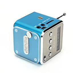 TD-V26 Portable Mini Digital Speaker with Micro SD / TF / USB /FM (Blue)
