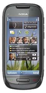 """Nokia C7 - Móvil libre (pantalla táctil de 3,5"""" 640 x 360, cámara 8 MP, 8 GB de capacidad, teclado alemán QWERTZ, S.O. Symbian) color negro [importado de Alemania]"""