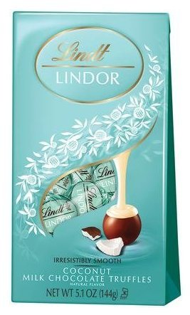 Lindt Lindor Delicious Coconut Chocolate Truffles 5.1oz, 6 Pack