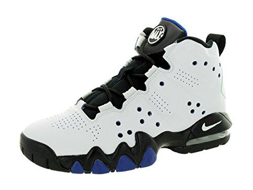 Nike Kids Air Max Barkley (GS) White/Black/Old Royal Basketball Shoe 6 Kids  US