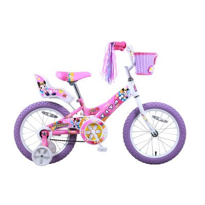 Titan Girl's Flower Princess BMX Bike, Pink, 16-Inch, Baby & Kids Zone