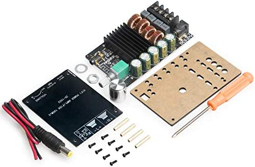 200W Bluetooth Amplifier Board TPA3116,DAMGOO 100W+100W Audio Amp Board with LC Filter Technique,Dual Channel DC8-24V,Password Free Connect to Phone Quietly