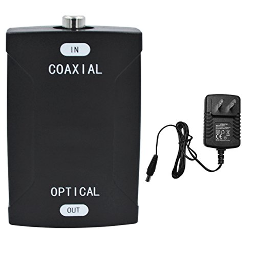 Homyl Audio Coaxial RCA Input Optical Toslink Output Digital Converter Connector US by Homyl