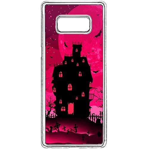 Galaxy S8 Cover Case,Halloween Pumkin Samsung Galaxy S8 Case,Spooky Halloween Ultra-Thin Crystal Case Cover with Hard TPU Slim Bumper Case for Samsung Galaxy -
