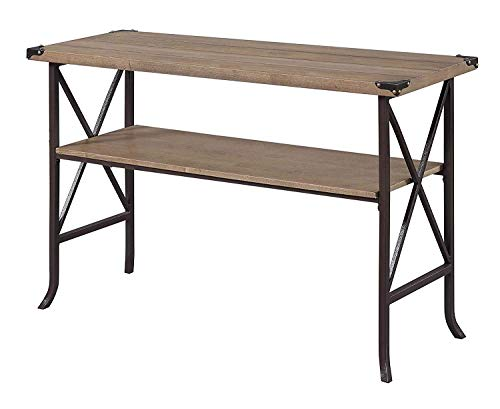 Convenience Concepts Brookline Console Table, Driftwood/Brown Frame