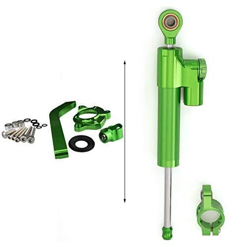 amortisseur et stabilisateur de direction Tampon Barre de contr/ôle avec support de montage pour KAWASAKI Z1000 2010 2011 2012 2013 Aluminium Tout Green