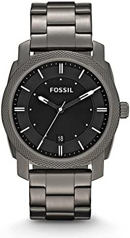 Fossil Men's FS4774 Machine Smoke Stainless Steel Bracelet Watch