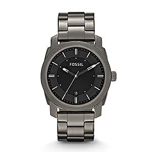 Fossil Men's FS4774 Machine Smoke Stainless Steel Bracelet Watch