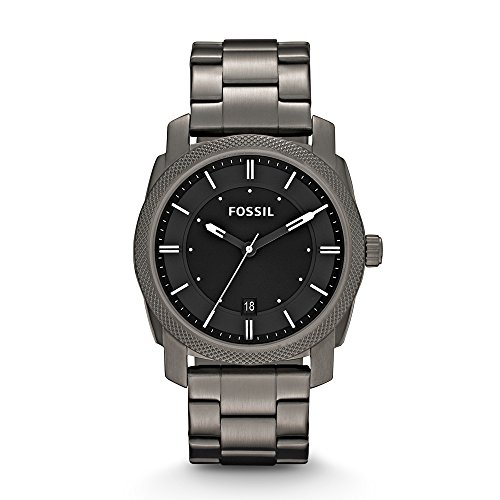 Fossil Men's FS4774 Machine Smoke Stainless Steel Bracelet ()
