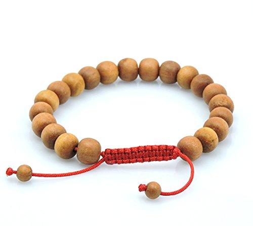 Tribe Azure Tibetan Sandalwood Wrist Mala Bracelet Adjustable Healing Meditation Yoga Buddhist Wood Chakra by Tribe Azure (Image #1)